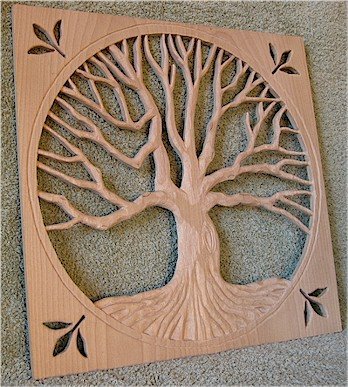 Oak Tree Carving