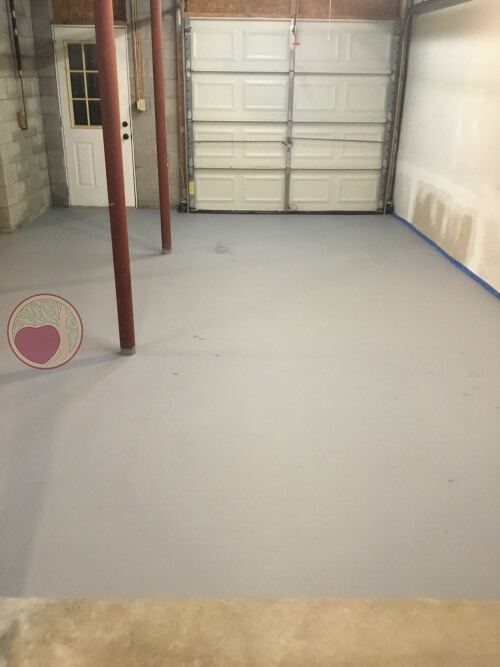 new shop floor after clean and paint