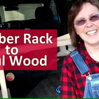 Lumber Rack for Hauling Wood in SUV Truck or Car
