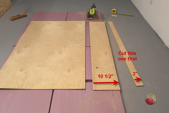 Circular saw guide board measurements