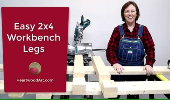 Easy 2x4 Workbench Legs for Mitre Saw Station