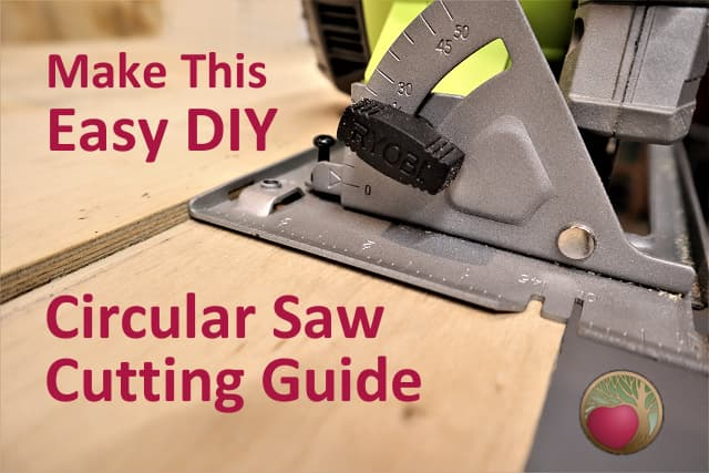 Easy DIY Circular Saw Straight Edge Guide