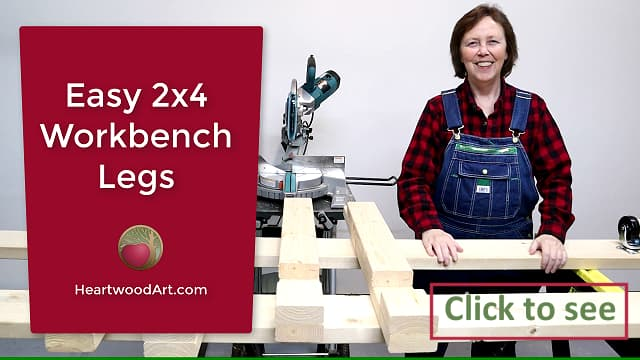 Easy 2×4 Workbench Legs for Mitre Saw Station