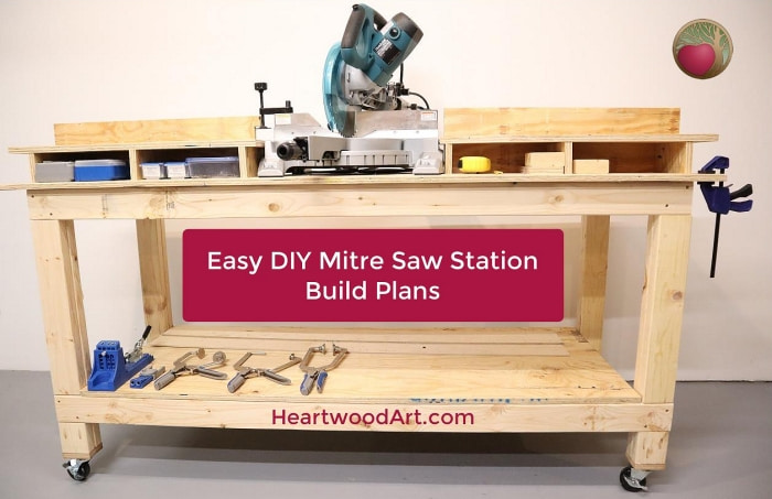 Easy DIY Mitre Saw Station Build Plans Project.